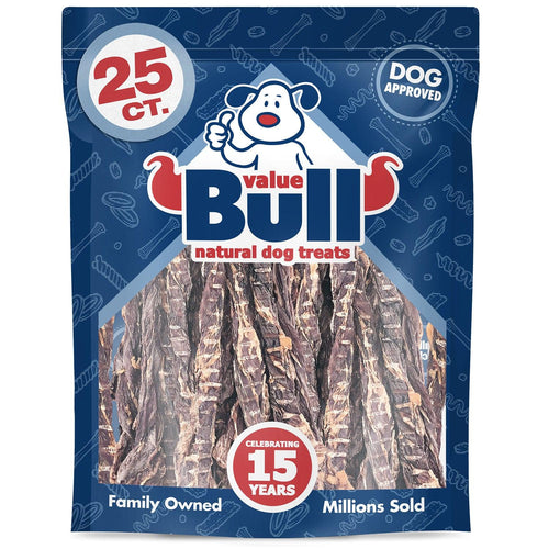 ValueBull USA Pork Weasands Dog Treats, 25 Count
