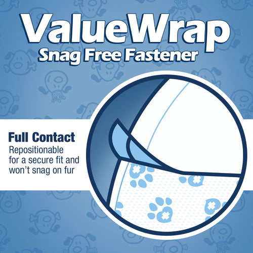 ValueWrap Disposable Male Dog Diapers, 1-Tab Medium, 72 Count