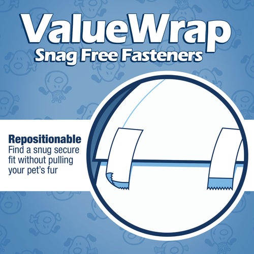 ValueWrap Disposable Male Dog Diapers, 2-Tabs Small, 72 Count