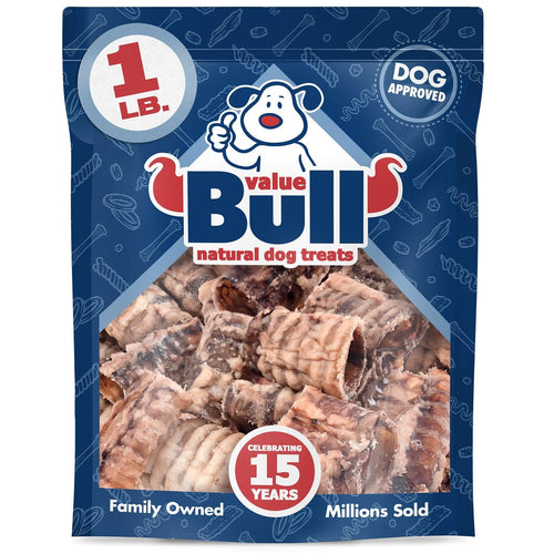 ValueBull Beef Trachea Dog Chews, 1-4 Inch, All Natural, 5 Pounds