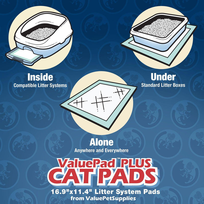ValuePad Plus Cat Litter Pads, 16.9x11.4 Inch, 400 Count - Breeze Compatible Refills