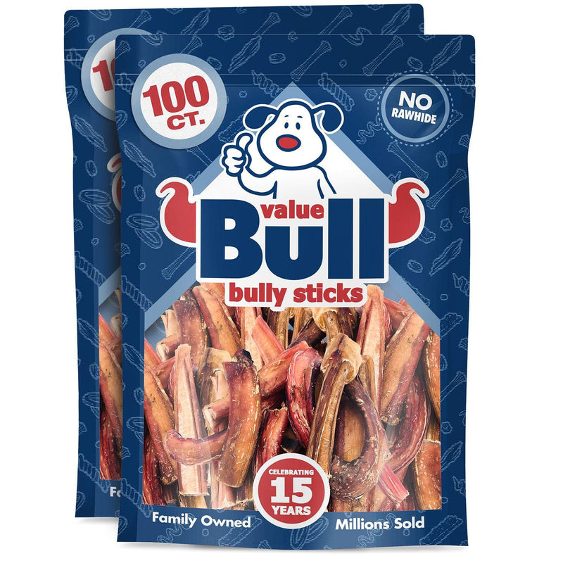 ValueBull Bully Sticks, Thick 3-4 Inch, Varied Shapes, 200 Count