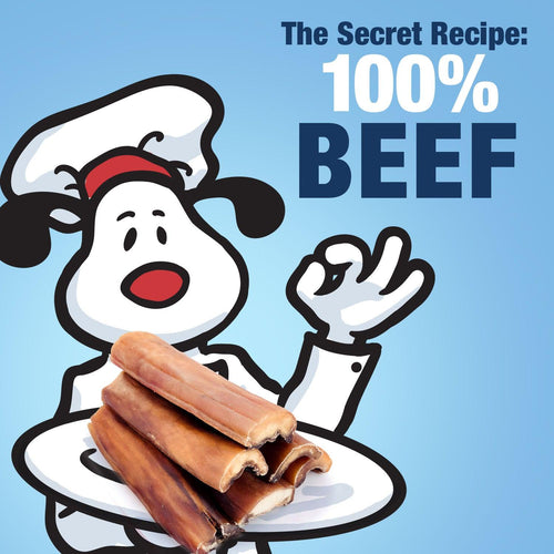 ValueBull Natural Brown Beef Cheek Slices, 6 Inch, 50 Count