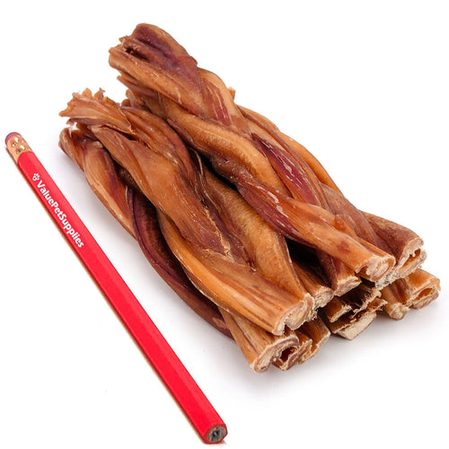 ValueBull Braided Bully Sticks, Thick 7 Inch, 400 Count