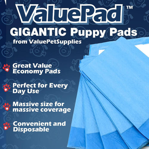 ValuePad Puppy Pads, XXL Gigantic 28x44 Inch, 400 Count