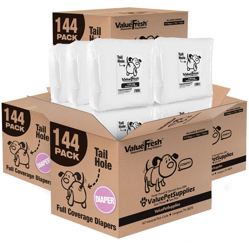 ValueFresh Disposable Diapers for Female Dogs, XX-Large, 576 Count