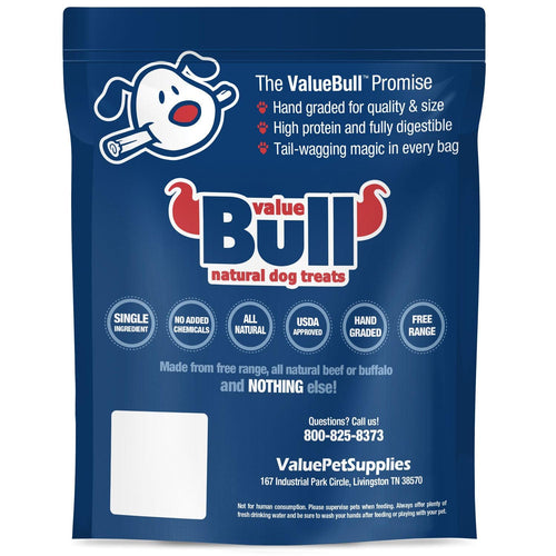NEW- ValueBull USA Bully Sticks for Small Dogs, Extra Thin 12 Inch, Odor Free, 500 Count