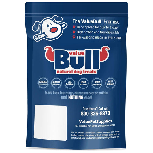 ValueBull Bully Sticks, Thick 6 Inch, Low Odor, 50 Count