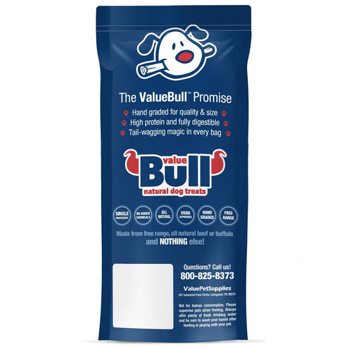 ValueBull Bully Sticks for Small Dogs, Extra Thin 12 Inch, Low Odor, 10 Count