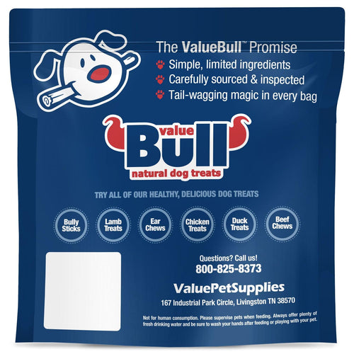 NEW- ValueBull Braided Beef Gullet Sticks, Thick 6 Inch, 100 Count