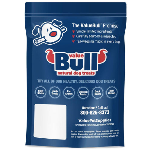 NEW- ValueBull Bully Stick Bits Dog Treats, 0-4 Inch, Low Odor, 1 Pound