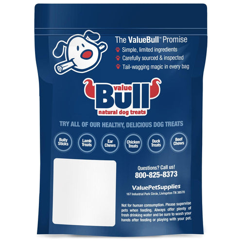 NEW- ValueBull USA Pig Skin Strips, 2x5 Inch, Smoked, 10 Count