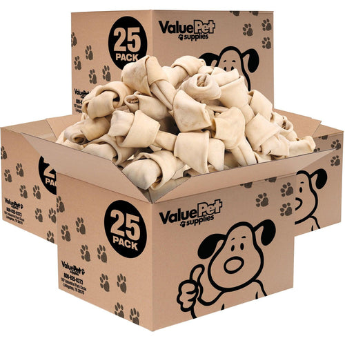 NEW- ValueBull USA Rawhide Dog Bones, 8-9 Inch, 100 Count