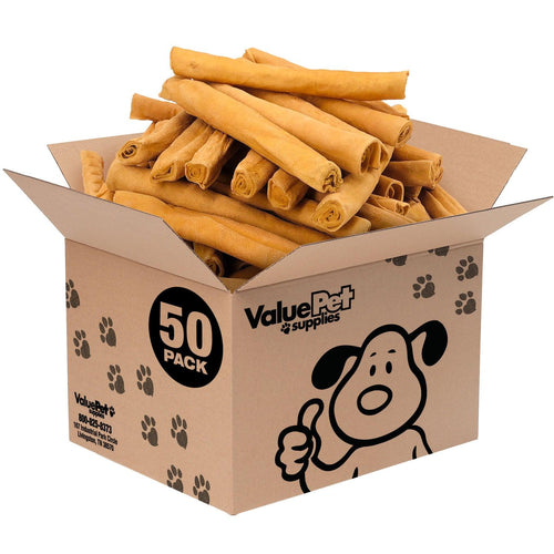 NEW- ValueBull USA Retriever Rolls, Thick 9-10 Inch, Smoked, 50 Count