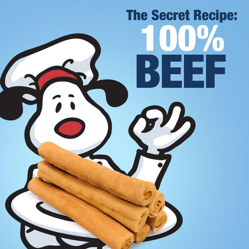 NEW- ValueBull USA Retriever Rolls, Medium 5-6 Inch, Smoked, 50 Count