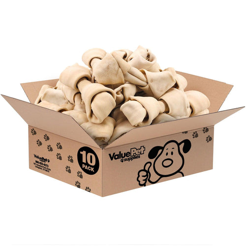 NEW- ValueBull USA Rawhide Dog Bones, 8-9 Inch, 10 Count