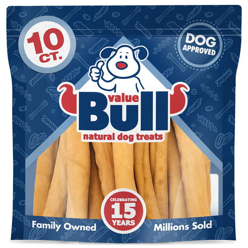 NEW- ValueBull USA Retriever Rolls, Thick 9-10 Inch, Smoked, 10 Count