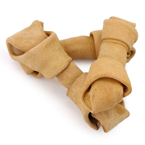NEW- ValueBull USA Rawhide Dog Bones, 6-7 Inch, Smoked, 10 Count