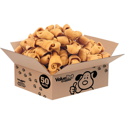 NEW- ValueBull USA Rawhide Dog Bones, 4-5 Inch, Smoked, 50 Count