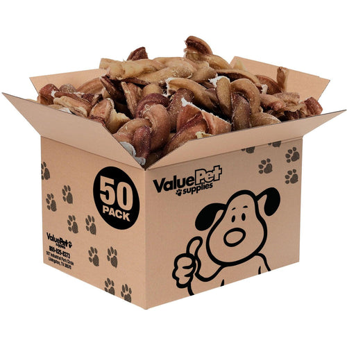 NEW- ValueBull USA Braided Bully Sticks, Thick 4 Inch, Odor Free, 50 Count