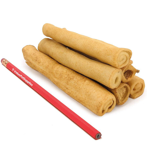 NEW- ValueBull USA Retriever Rolls for Small Dogs, Slim 5-6 Inch, Smoked, 800 Count