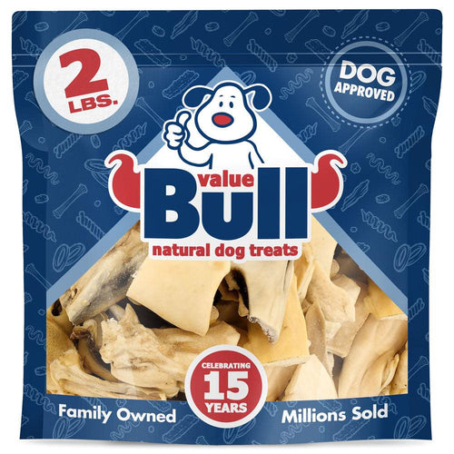 NEW- ValueBull Beef Cheek Bites, 1-5 Inch, Varied Shapes, 2 Pound