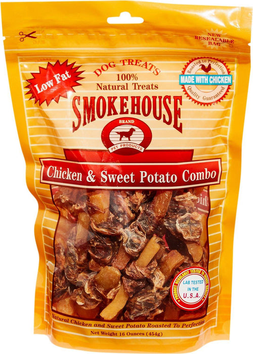 Smokehouse Chicken & Sweet Potato Dog Treats, 16 Ounce, 12 Pack