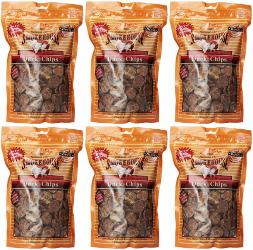 Smokehouse Duck Chips Dog Treats, 16 Ounce, 6 Pack