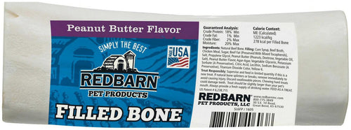 Redbarn Peanut Butter Filled Bone for Dogs, Large, 15 Count