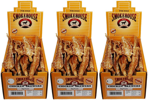 Smokehouse Chicken Skewers Dog Chews, 45 Count, 3 Pack