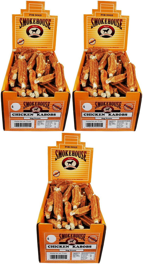 Smokehouse Chicken Kabobs Dog Chews, 70 Count, 3 Pack