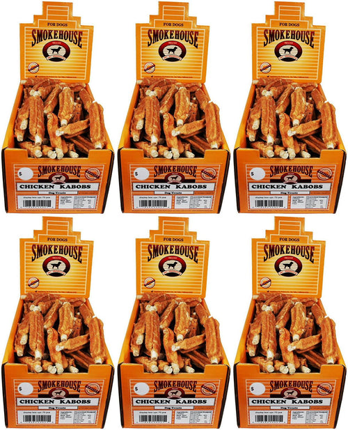 Smokehouse Chicken Kabobs Dog Chews, 70 Count, 6 Pack