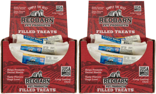 Redbarn Chicken Filled Bone for Dogs, Large, 15 Count, 2 Pack