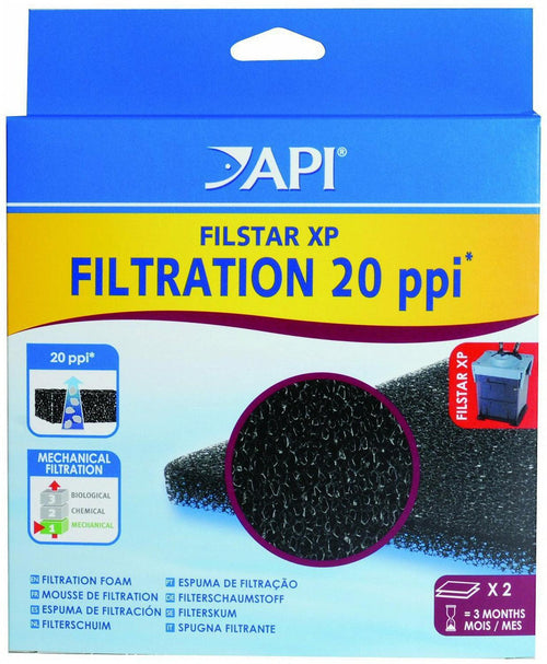 API Filstar XP Foam 20 ppi, 2 Count