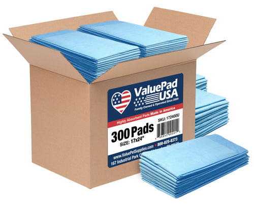ValuePad USA Puppy Pads, Small 17x24 Inch, Economy, 600 Count
