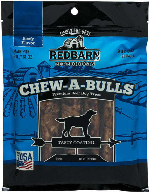 Redbarn 6 Inch Chew-A-Bulls Dog Chews, 6 Count, 18 Pack