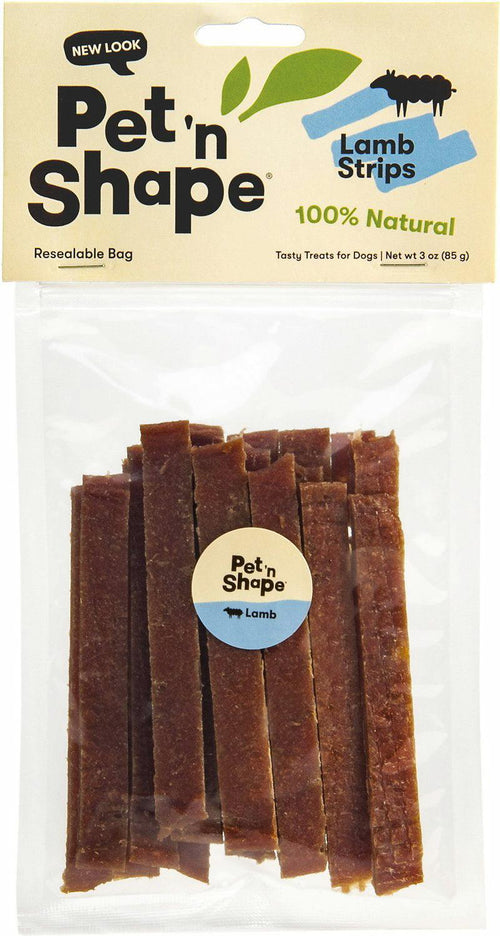 Pet 'n Shape Lamb Strips Dog Treats, 3 Ounce