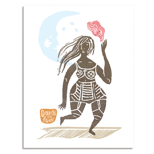 Pbody Dsign - Goddess Of The Girdle Note Card