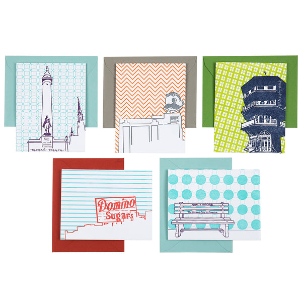 Tiny Dog Press - Baltimore Architecture 5 Card Box Set: Icons