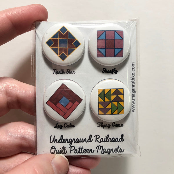 Magan Ruthke - Underground Railroad Quilt Pattern Magnet Set
