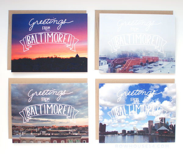 Rowhouse 14 - Greetings From Baltimore Greeting Card Set