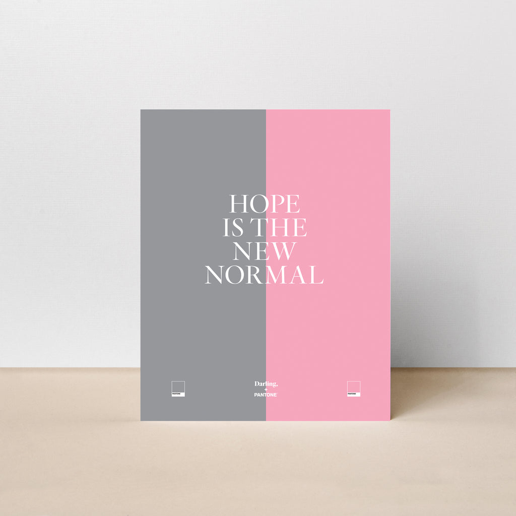 Hope is the New Normal Poster-Grey/Pink
