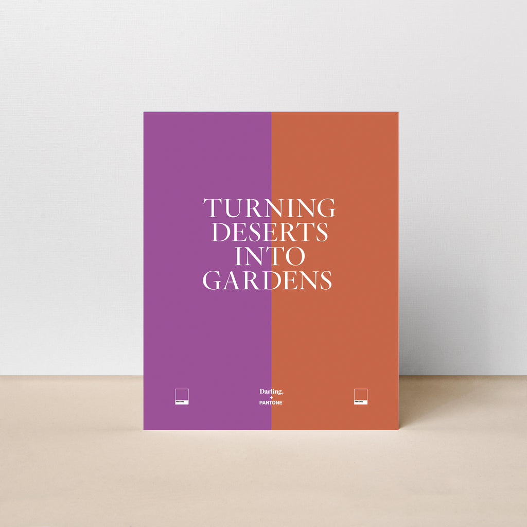 Turning Deserts into Gardens Poster