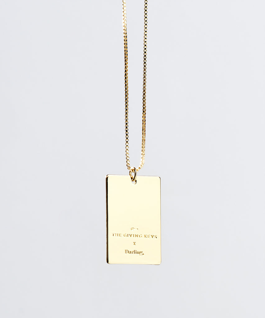 Darling x The Giving Keys Pendant Necklace in Gold