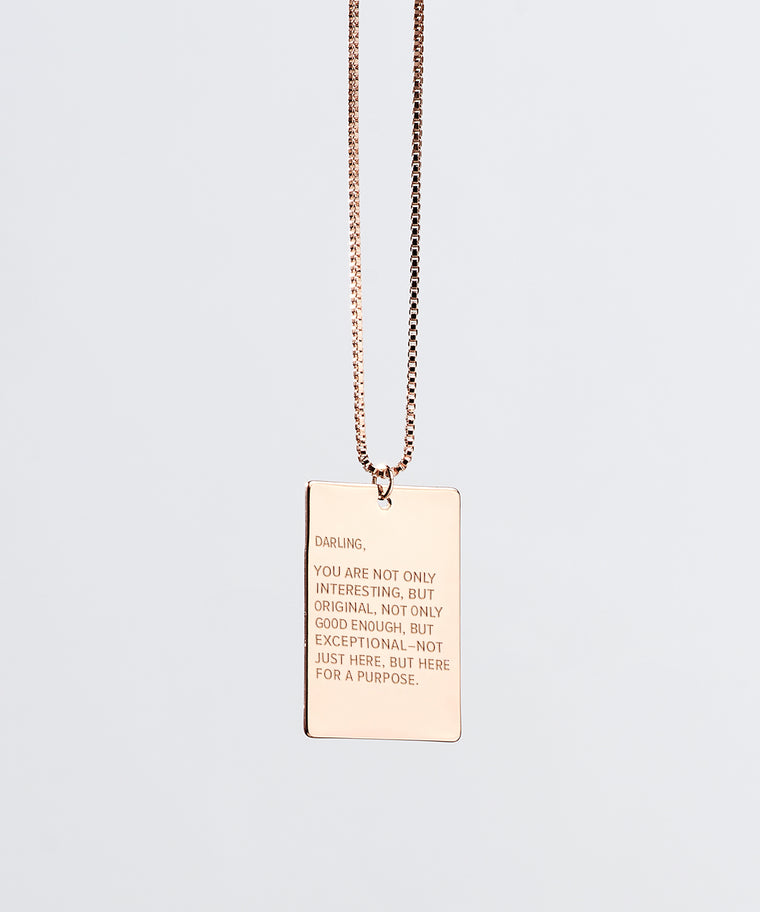 Darling x The Giving Keys Pendant Necklace in Rose Gold
