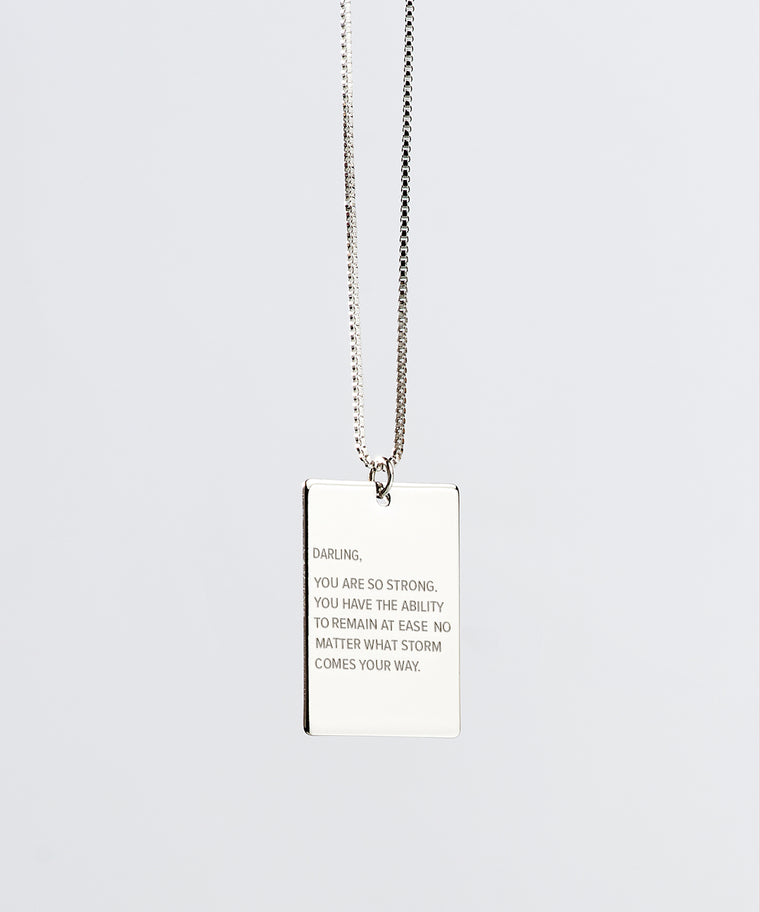 Darling x The Giving Keys Pendant Necklace in Silver