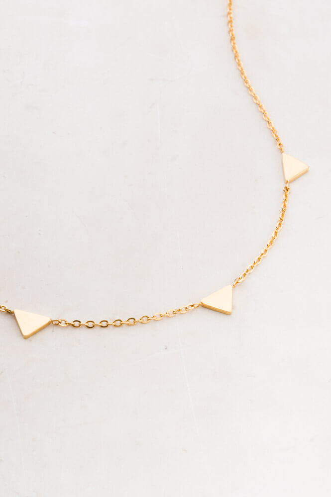 Georgia Gold Triangle Pendant Necklace