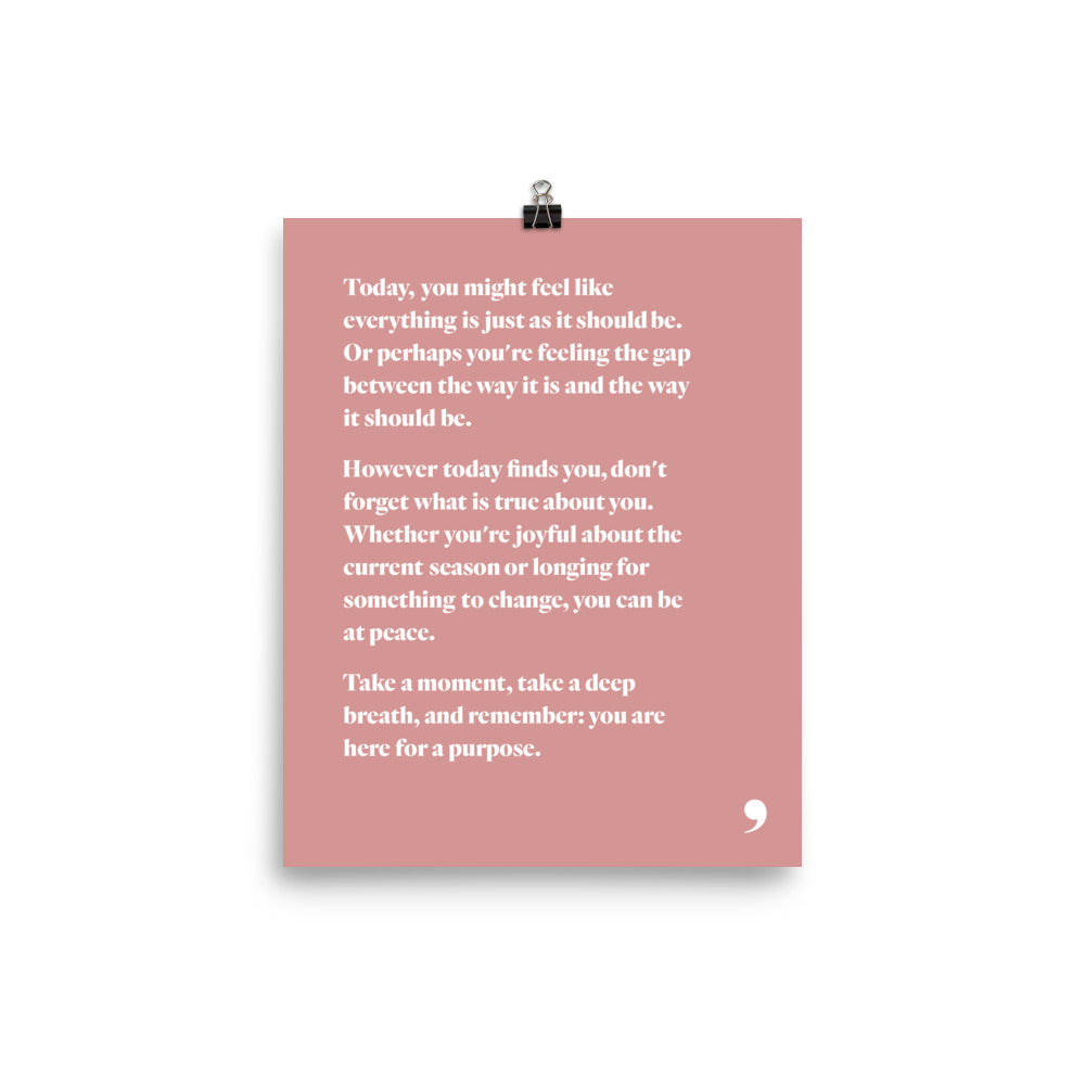 Darling Note Print