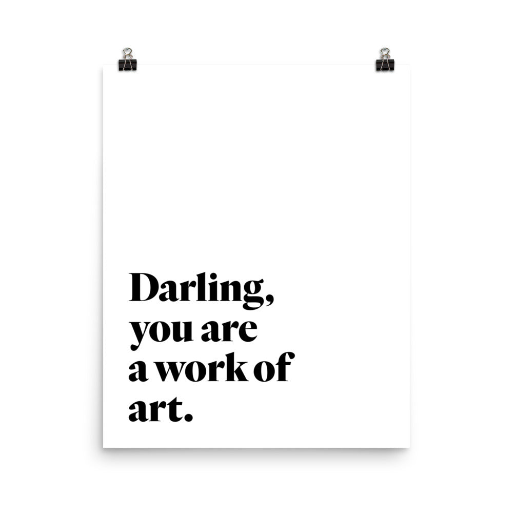"""Work of Art"" Print - White"