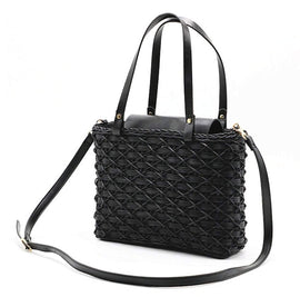 Square Wicker Tote Bag